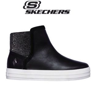 NEW Skechers Double Up-Back Flash Leather Boots
